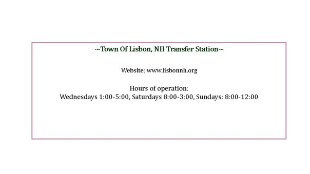 town of lisbon transfer station information for website 2015